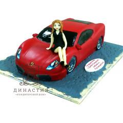 Торт «Красная феррари»