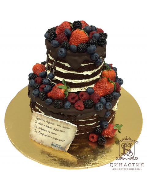 Торт Шоколадный с ягодами