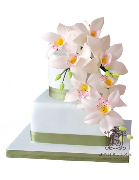 Торт С Орхидеями