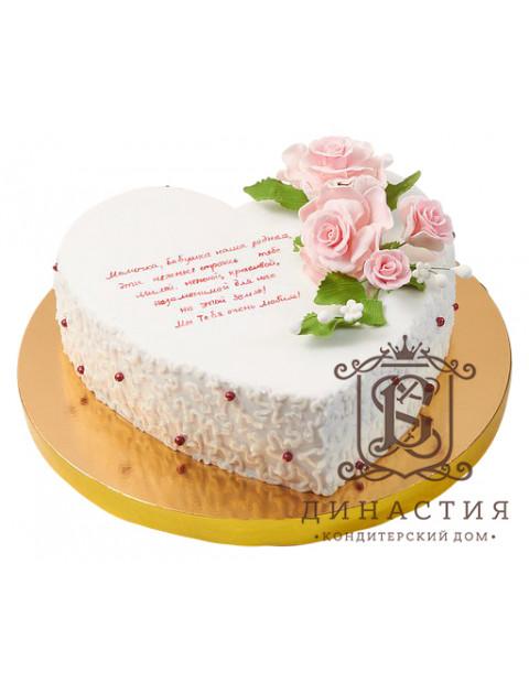 Торт Сердце с розами