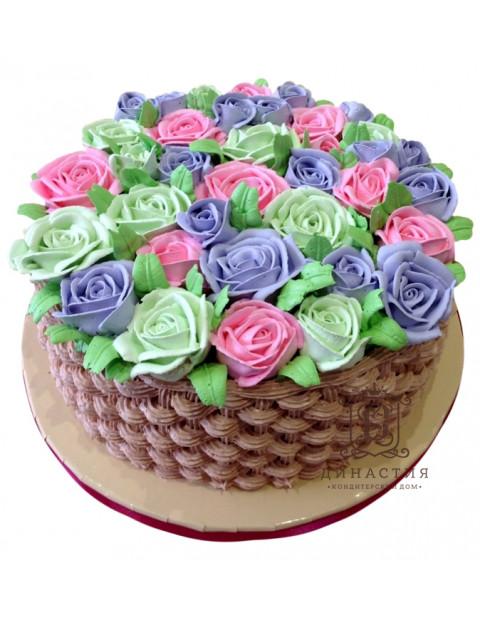 Торт Корзинка цветов