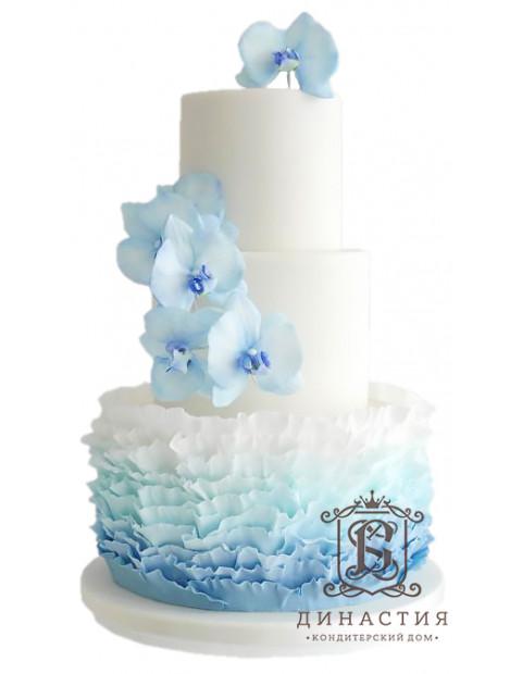 Торт Голубая бахрома