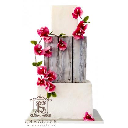 Торт Деревянная свадьба