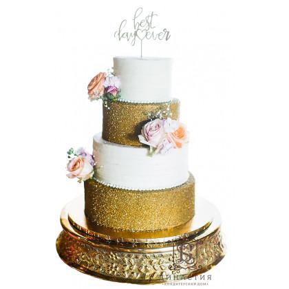 Торт Золотое свечение