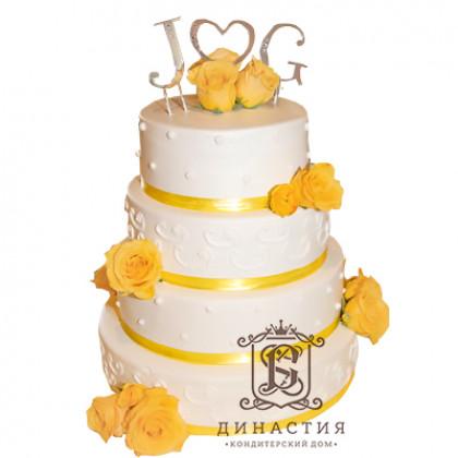 Торт Жёлтые розы