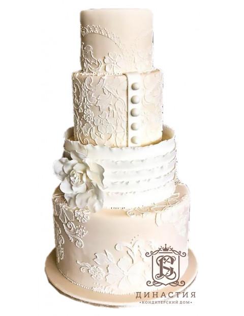 Торт Свадебный наряд