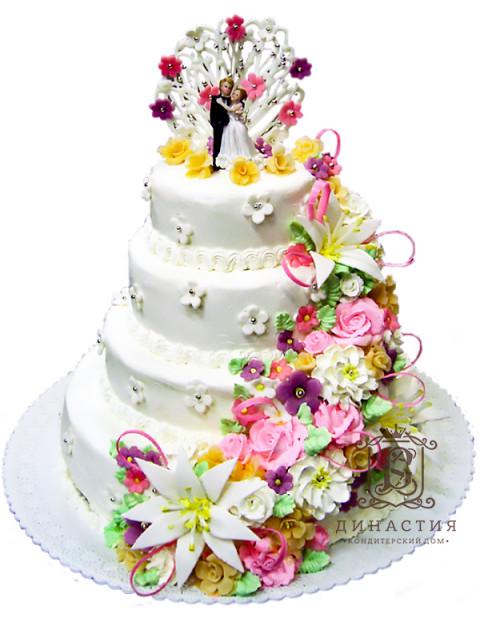 Торт Цветочный микс