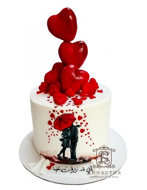 Торт Горячие сердца