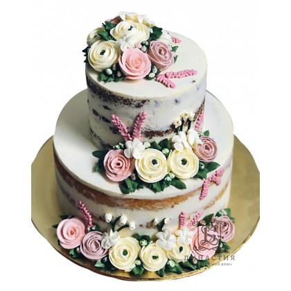 Торт Розы на открытых коржах