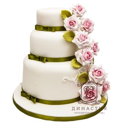 Торт Каскад из роз