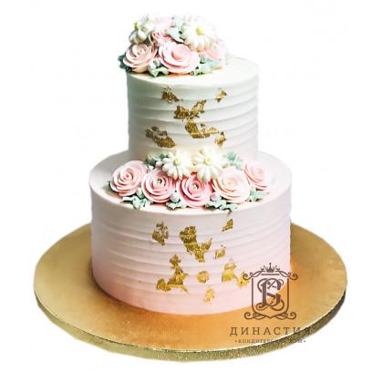 Торт Сливочный с золотом