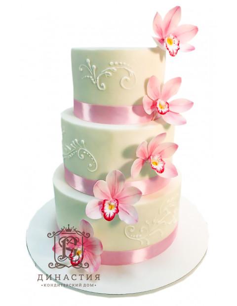 Торт с Розовыми лентами