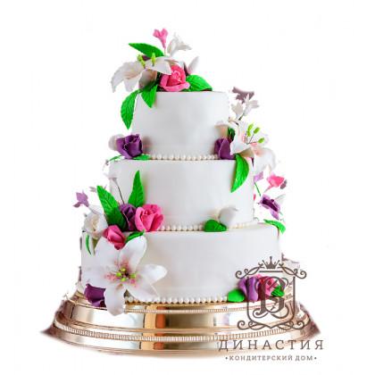 Торт Свадебные лилии
