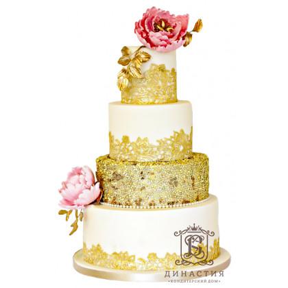 Торт Золотые кружева