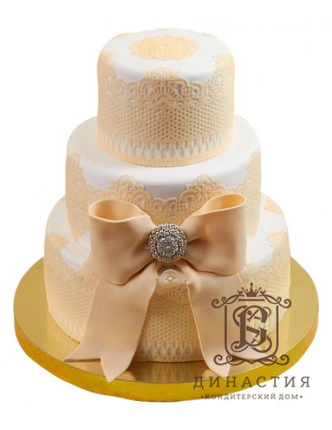 Торт бантом