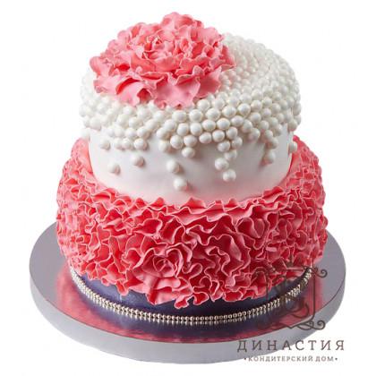 Торт Пион в рюшках