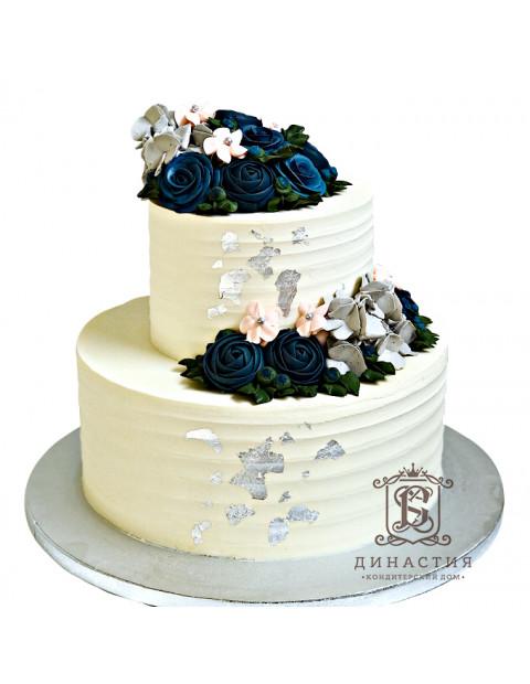 Торт с серебром