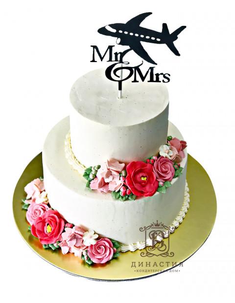Торт Свадьба лётчика