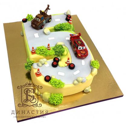 Торт Тачки на 5 лет