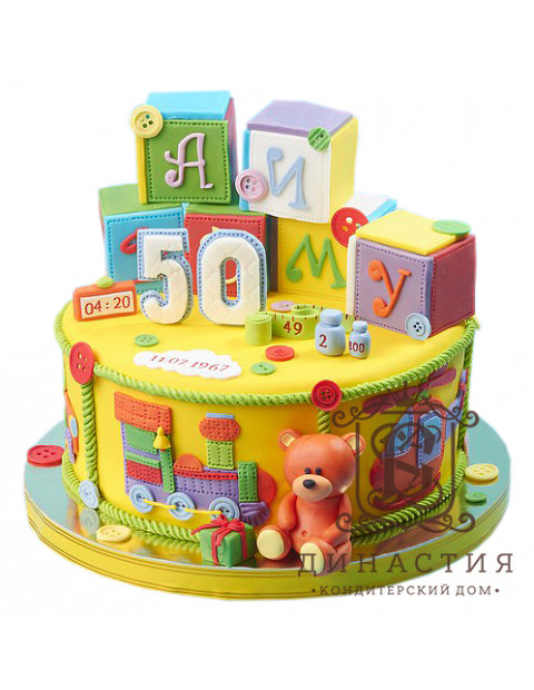 Торт С кубиками