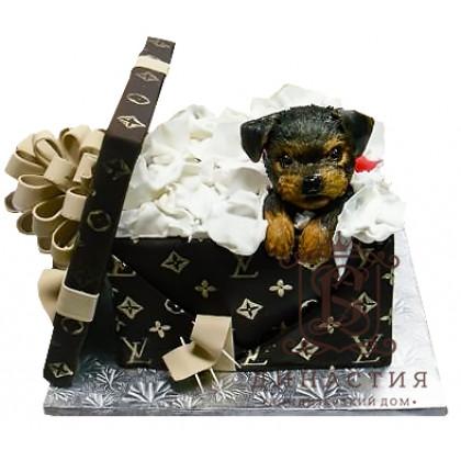 Торт Подарок от Луи Витон