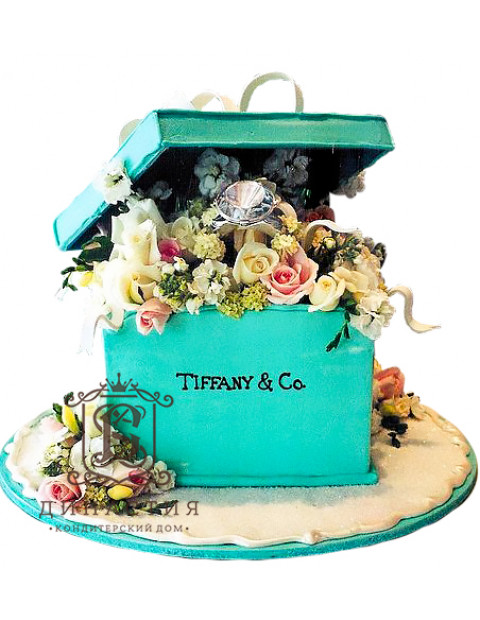 Торт Коробочка Тиффани
