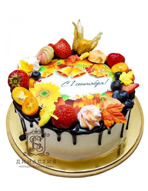 Торт на 1 сентября с ягодами