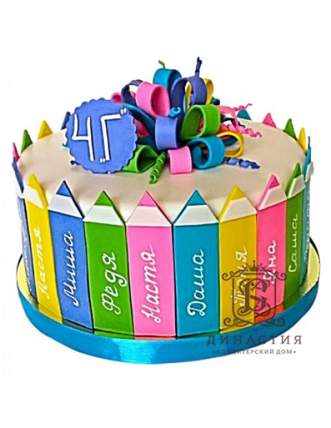 Торт на выпускной Карандаши