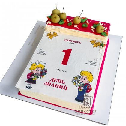 Торт Календарь 1 сентября