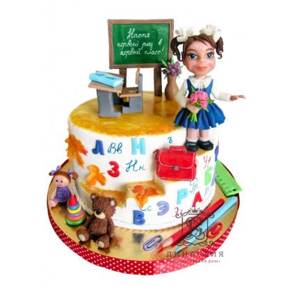 Торт к 1 сентября для девочки