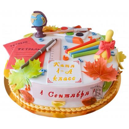 Торт на 1 сентября со звонком