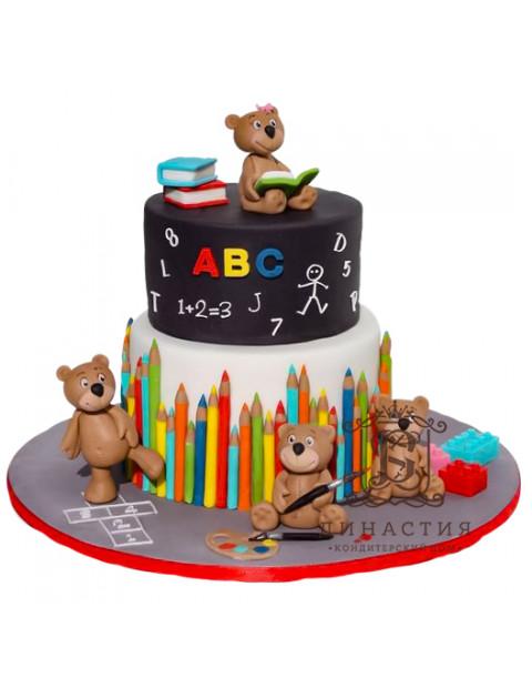 Торт Школьный с карандашами