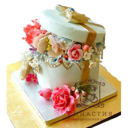 Торт Коробка цветов