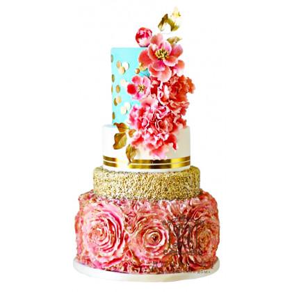 Торт Мерцающие букеты