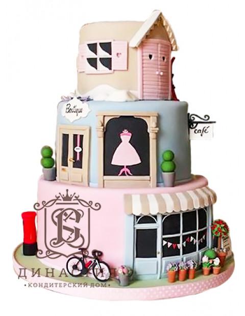 Торт Модный дом