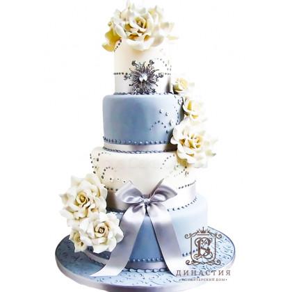 Торт Небесно-пастельный