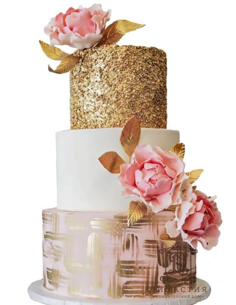 Торт Розовое золото 1