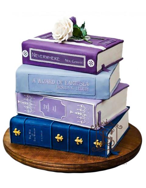Торт Стопка книг