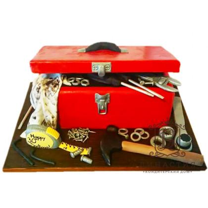 Торт Ящик с инструментами