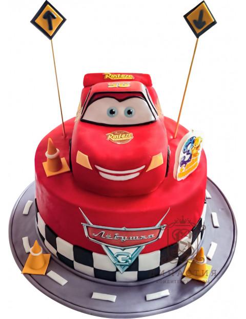 Детский торт по мультсериалу Тачки