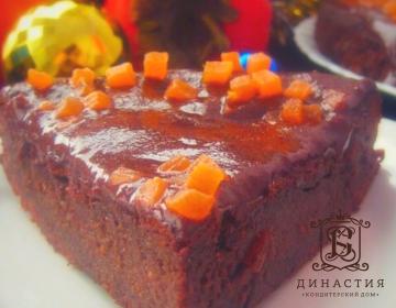 Рецепт шоколадного торта с хурмой