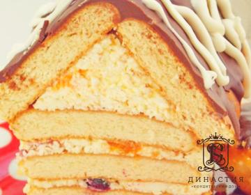 Рецепт торта «Творожный домик»