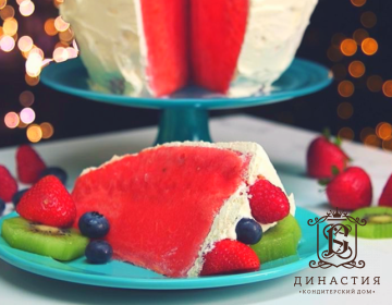 Рецепт торта «Арбуз»