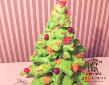 Рецепт торта «Новогодняя елочка»