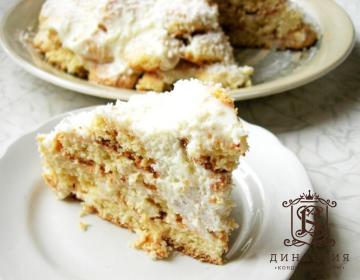 Рецепт торта «Снежная горка»