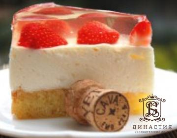 Рецепт торта «Клубника в шампанском»