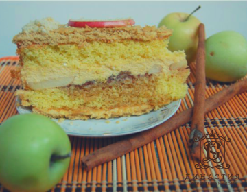 Рецепт торта «Карамельное яблоко»