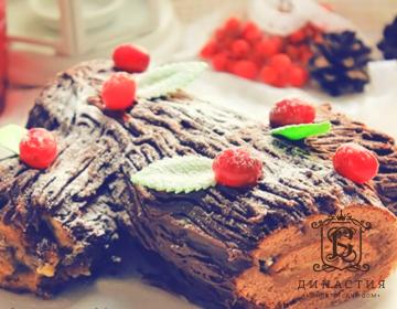 Рецепт торта «Рождественское полено»