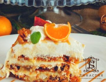 Рецепт морковного торта с солёной карамелью