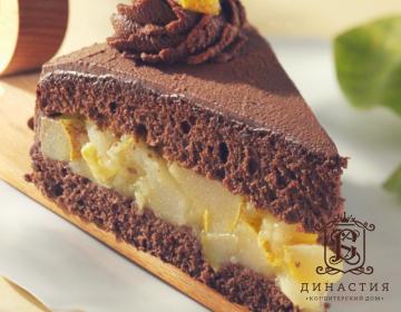Рецепт шоколадного торта с грушевым кремом